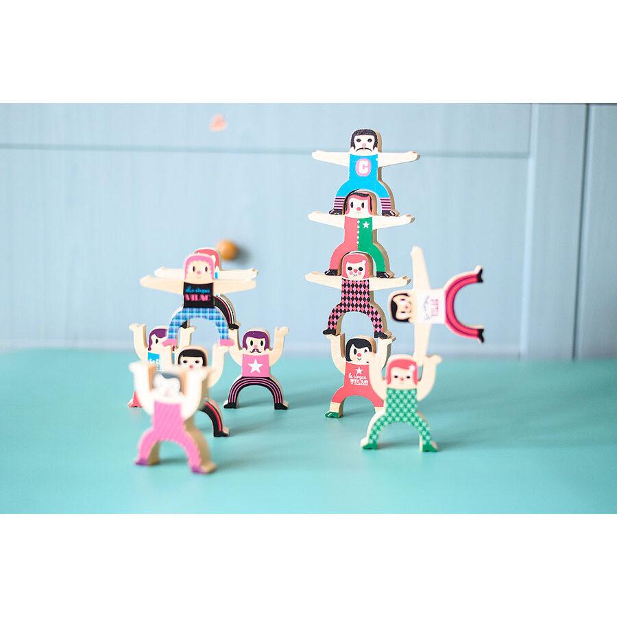 Drevená skladačka akrobati