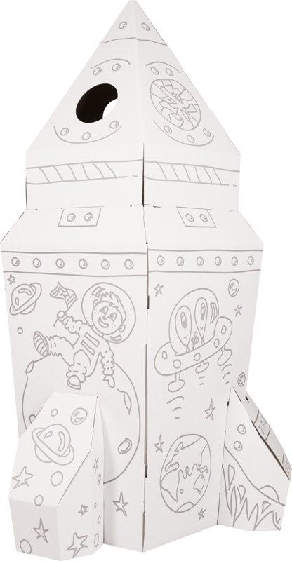 Raketa na maľovanie z kartónu