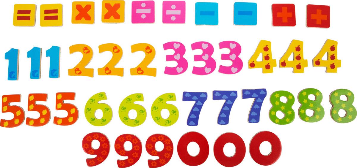 Magnetické drevené číselká