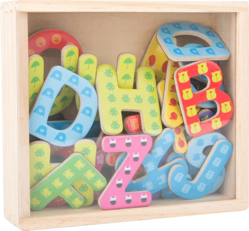 Magnetické drevené písmenká vzorované