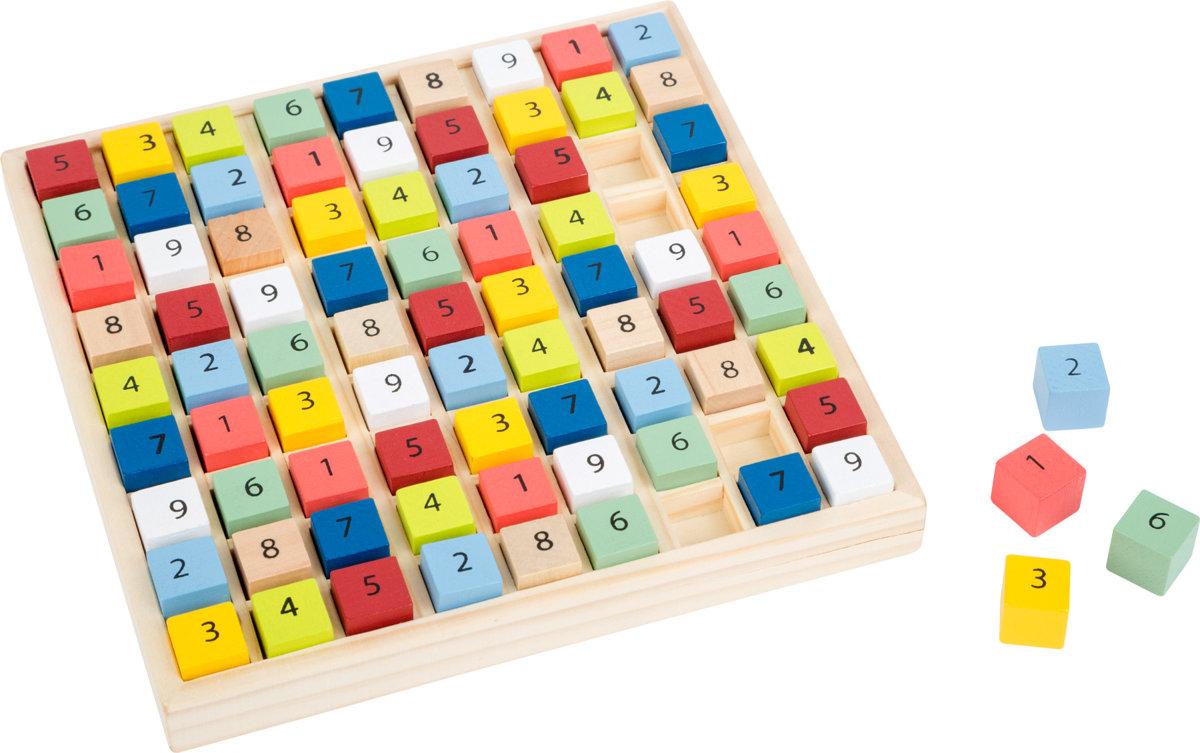 Farebné drevené sudoku kompaktné