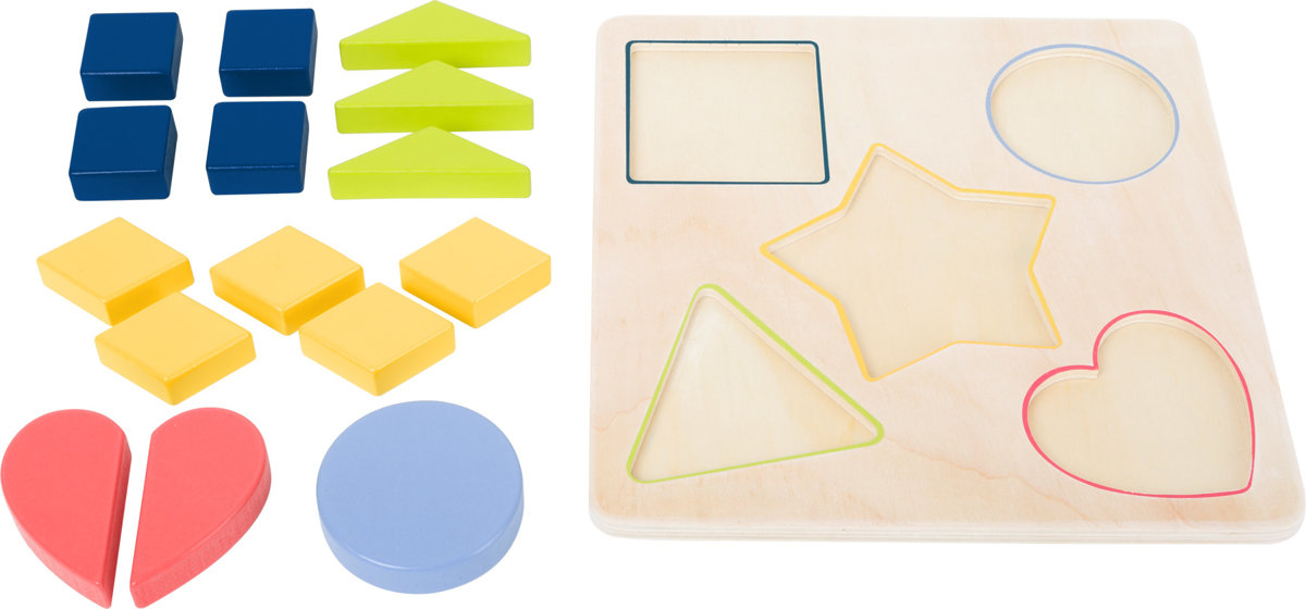 Puzzle dopĺňanie tvarov
