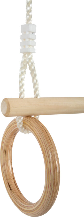 Drevená hrazda s gymnastickými kruhmi 2v1