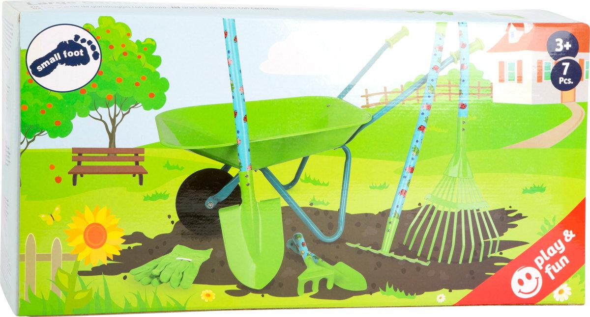 Veľký záhradkársky set s fúrikom