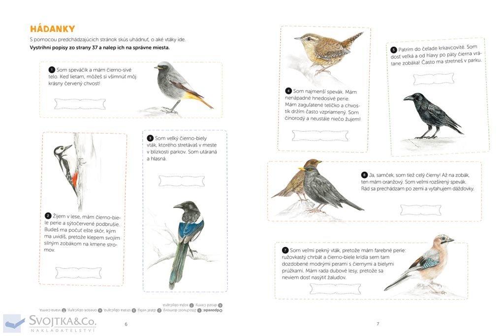 Môj zošit pozorovaní a aktivít Vtáky