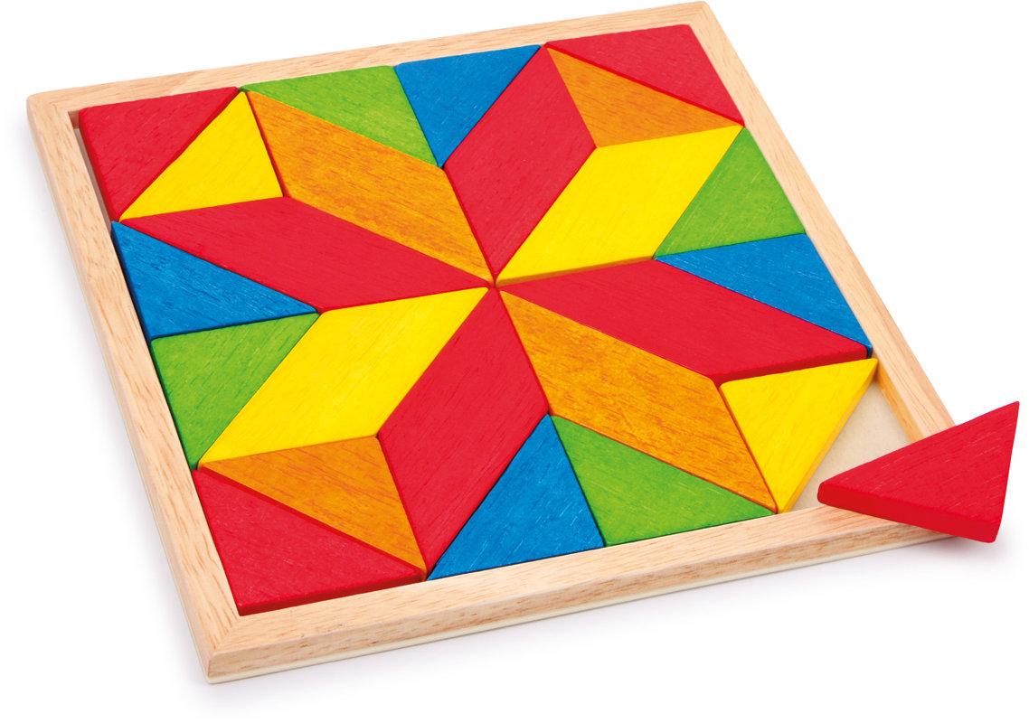 Mozaika drevená