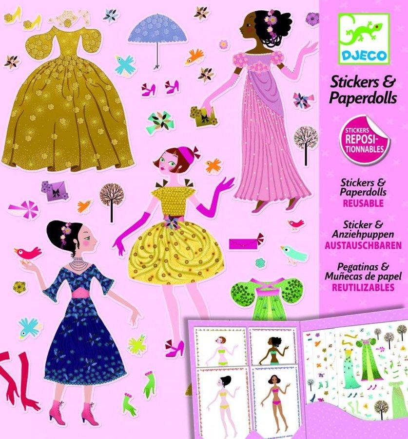 Obliekanie papierových bábik
