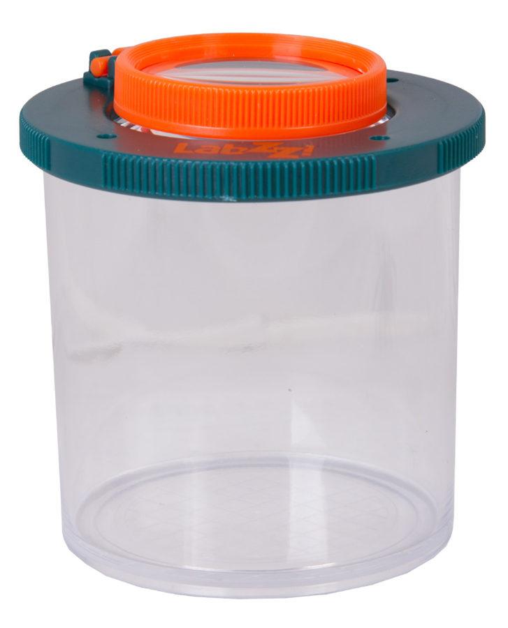 Pohár s lupou na sledovanie hmyzu plastový