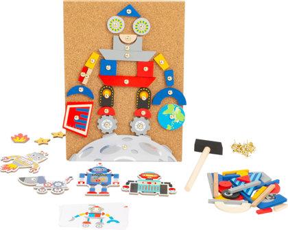 Zatĺkací robot na precvičovanie tvarov a farieb