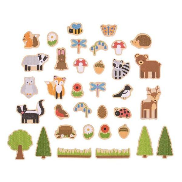 Magnetky lesné zvieratká 35ks