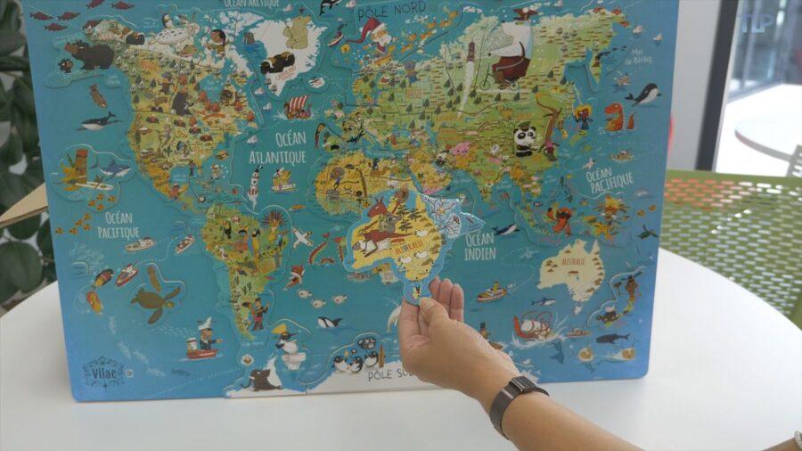Veľká nástenná magnetická mapa sveta po anglicky