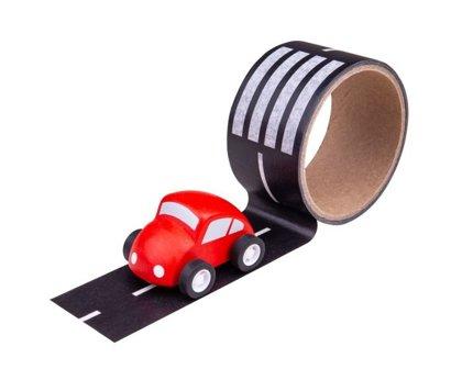 Lepiaca páska cesta s autíčkom