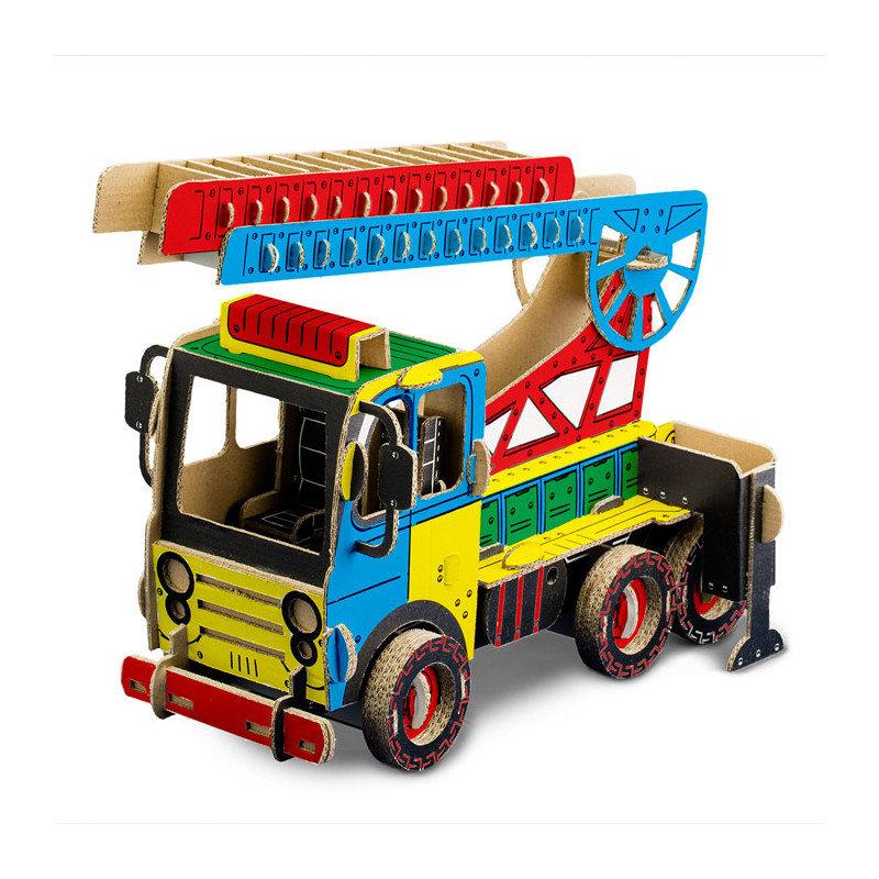 Kartónové hasičské auto na maľovanie