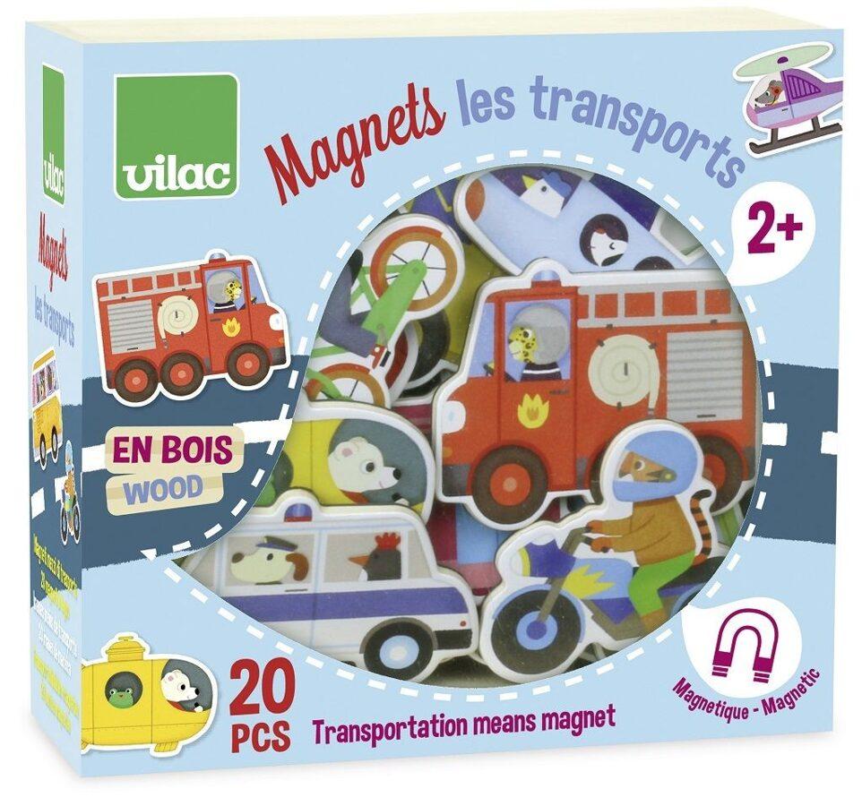Drevené magnetky Doprava 20 ks